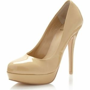 Kelsi Dagger Womens Patent Nude Lizzy High Heel